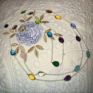 Jewelry - ❤️ MULTI GEMSTONE TENNIS NECKLACE•925 STERLING ❤️
